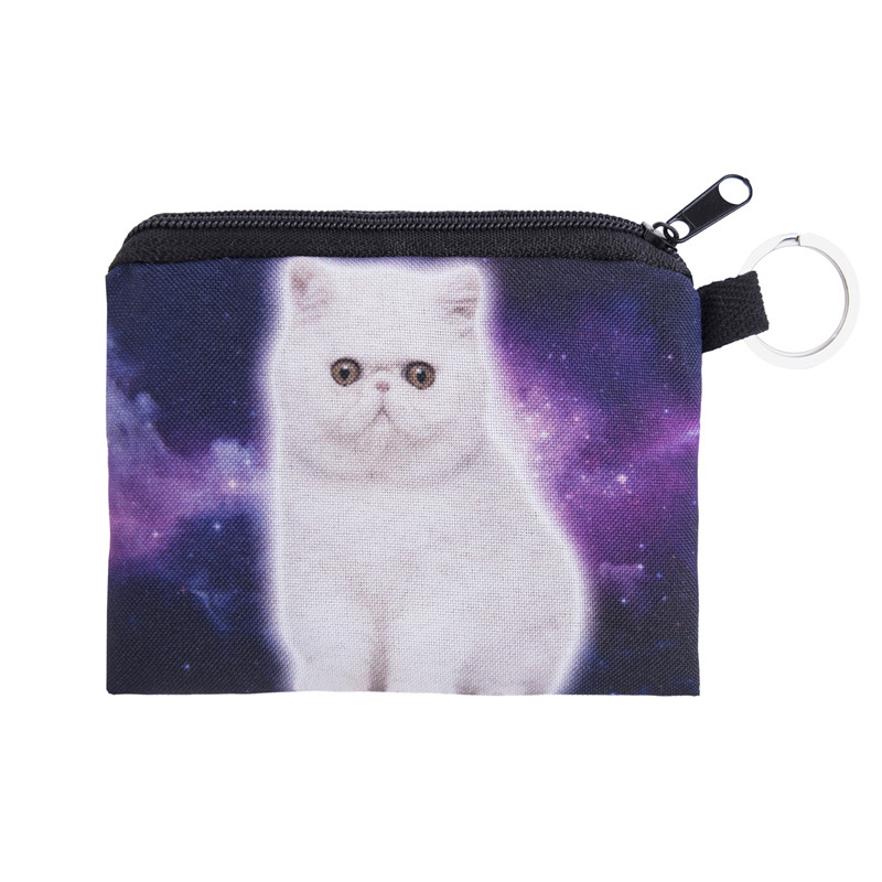 New Women Coin Purses Cute Girl Animal Mini Bag Key Ring Case Zipper Wallet Lovely Cat Face Pouch Change Purse wholesale cp4048<br><br>Aliexpress