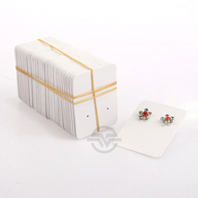 50pcs White Plastic Earring Packaging Card Jewelry Holder Earring Display Card Earring Packing Tool Jewelry Store Accessories