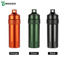Aluminum Alloy Waterproof Every Day Carry Matches Cap Survival Medications Pills Match Case Container Bottle Carry Gear