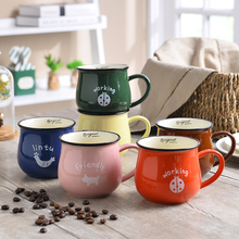 350ML High Quality Best Soup Latte Ceramic Tea Coffee Mugs With Handle Porcelain Novelty Unique Personalized Funny Printed Cup(China)