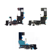 "High Quality Charging Flex Cable For iPhone 4 4S 5 5S SE 6 6S 4.7"" USB Charger Port Dock Connector With Mic Flex Cable"