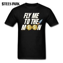 Buy Tee Shirt Fly Moon Bitcoin Retro T Shirts Men's Crew Neck Male T-Shirts Fashion 2018 Short Sleeve Cotton for $12.98 in AliExpress store