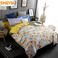 SMAVIA Cartoon Dragon Bedding Sets 3/4pc Dye Printing Bed Sets  Queen King Size Home Hotel Bed Linen Bed Sheet Duvet Cover Sets