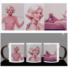 New Design  Color Changing Mug Heat Sensitive Magic Coffee Tea Mug Cup Printing With Sexy Marilyn Monroe