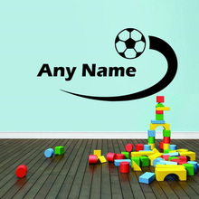Personalized Football Wall Stickers Home Decor Living Room Wall Art Kid Boys Bedroom Decor Sport Decal Home Decoration(China)