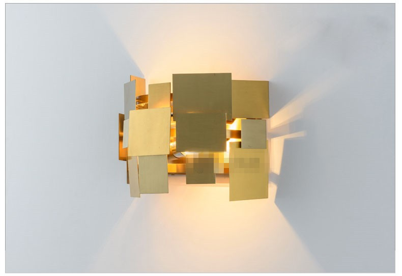Stainless Steel Square Wall Lamp 17