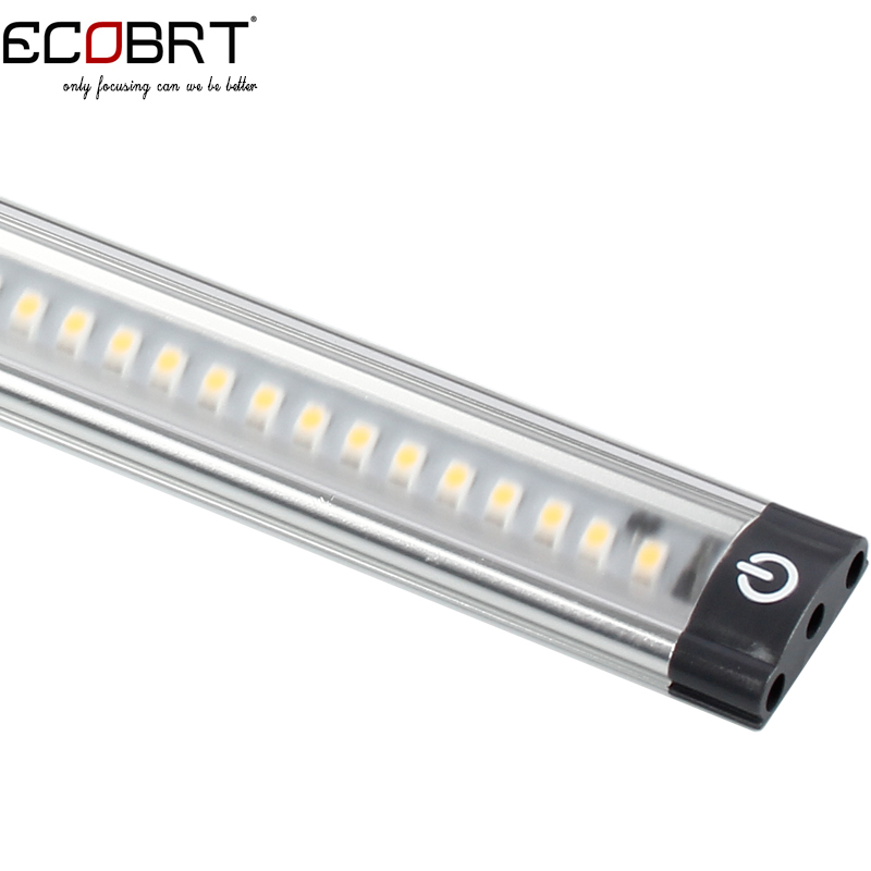 20 inch Aluminum Touch On Cabinet lamps 50cm long 5W  Led Linear Cabinet Strip Lights 12v / 24v DC with sensor switch 2pcs/lot