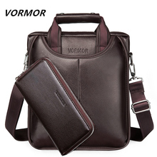 VORMOR Fashion Men Tote Casual Briefcase Business Shoulder Black Leather High Quality Messenger Bags Laptop Handbag Men's Bag(China)
