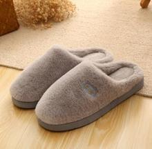 More female winter home half a pack with warm antiskid cotton slippers, big yards female slippers, many colors on sale(China)