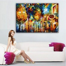 Home decor simulation oil painting on the canvas print landscape  pictures Canvas Painting knife painting   DM16101604