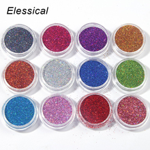 12 Color Assorted Nail Glitter Set Glitter Powder Nail Art Decoration Tools Nail Glitter Holographic Dust Powder WY559(China)