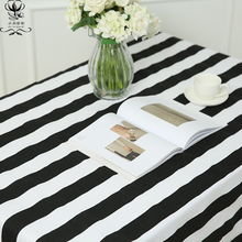 Hot Sell Black Bar Stripe Linen Cotton Fabric Popular Style Sofa Cover Hotel Bar Cloth Tablecloth Decoration Blended Fabric(China)