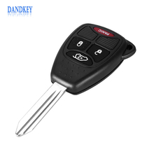 Dandkey 3 + 1 Panic 4 Buttons Remote Key Shell For Chrysler Jeep Dodge Sebring Pacifica PT Cruiser Car Key Case Cover Fob(China)