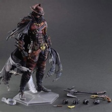 27cm Batman Timeless Wild West Red Ver. Play Arts Kai PVC Action Figure Toys Collectors Model With Box