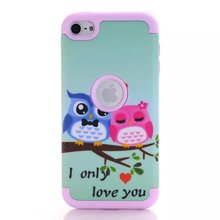 PC + Silicone Hybrid Armor Case cover Case for Apple iPod Touch 6 Cute Silicon Back Phone Protective Covers