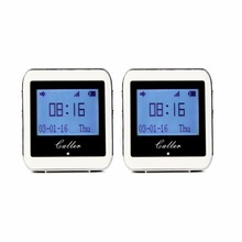 2 Pcs 999 Channel RF Wireless White Wrist Watch Receiver for Fast Food Shop Restaurant Calling Paging System 433MHz F3288B(China)