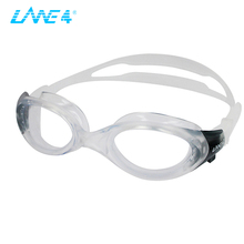 LANE4 anti-fog adjustable swimming glasses men for adult me, swimming glasses prescription racing A703(China)
