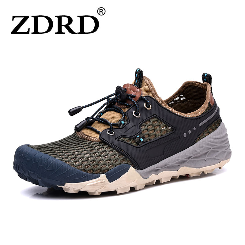 ZDRD Men Outdoor Hiking Sneakers Breathable Summer Hiking Shoes  Mens Outdoor Hiking Sports Trekking Trail Water Walking Shoes<br>