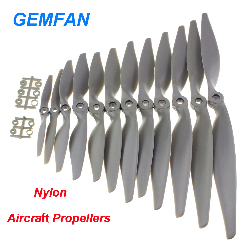 4pcs/lot Gemfan Apc Nylon Propeller 5x5/6x4/7x5/8x4/8x6/9x6/10x5/10x7/11x5.5/12x6/13x6.5/14x7 Props For RC Model Airplane(China)