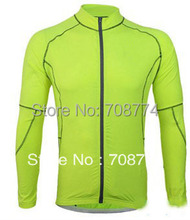 Long Sleeve Promotion Selling 2013 Hot Selling Outdoor Sports Shirts Cycling Jersey Made From High Quality Lycra Some Size