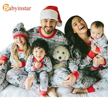 Babyinstar Family Sets New Christmas Father Mother Son Daughter Matching Look Tracksuit Pajamas Two-Pieces Sets Family Clothing