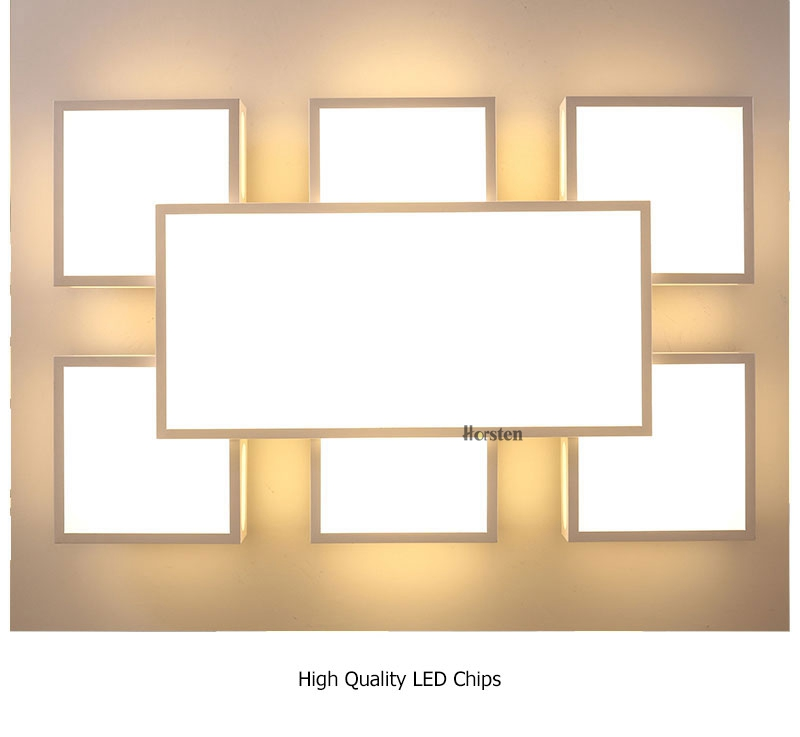 Modern Simple Acrylic LED Ceiling Lights Minimalist Rectangular Ceiling Chandelier Lights Lamp For Living Room Bedroom 220V (15)