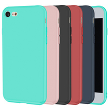 Case For Iphone 7 8 Plus X 6 6S Silicone Coque Black Soft Cover Matte Cute Funny TPU Ultra Thin Back Cover For Iphone 8(China)