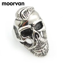 Moorvan USD 1.99/PC,old gentleman beard skull ring,punk/rock/cool/fashion/hiphop stainless steel jewelry rings USA SIZE 7-13(China)