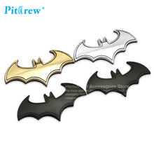 3D Car Styling Car-styling Car Sticker Metal Batman Badge Cool Metal Bat Auto Logo Tail Decal Accessories Three colors sticker(China)