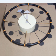 12 inch Steering Wheel Wall Clock Features Lacquered Metal Finish Aluminum Quartz Holder