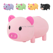 USB Flash Drive 64G Pen Drive 32G Pendrive 16G 8G 4G New Cute Cartoon Pink Pig Hot Sale Pendrive USB2.0 Flash Card Free Shipping