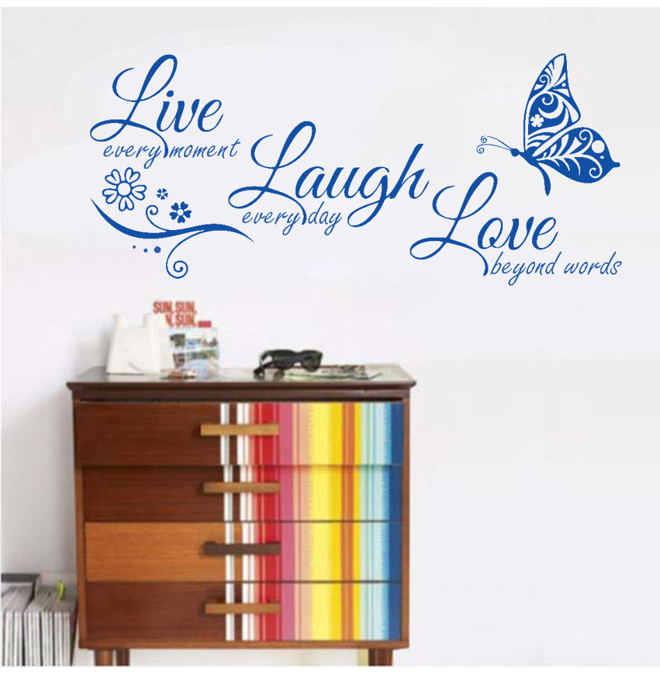 HTB1rlfOXiQnBKNjSZFmq6AApVXa7 - Live Laugh Love Butterfly Flower Modern Wall Decals Quotes Vinyls Stickers