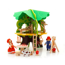 Chanycore Baby Learning Educational Wooden Toys Blocks Assemblage Play House Kindergarten Tree House mwz Kids Gifts 4206