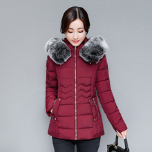 Pregnant women jacket 2017 winter new style pregnant women large size cotton skirt paragraph down coat cotton clothing(China)