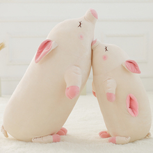 One Piece Super Soft Sleeping Pig With Warm Hand Cover Toy Cute Pig Dolls Kids Pillows Cotton Stuffed Plush Animal Toys 2 Style