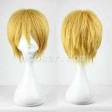 32cm Short Gold Male Cosplay Hair Anime Japanese Cartoon Figure Kuroko No Basuke-Kise Ryota Cosplay Costume Headwear for Men(China)