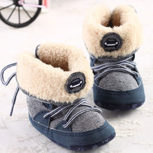 New Fashion Super Warm Infant Toddler Boy Kids Winter Keep Warm Boots Booties Crib Bebe First Walkers Shoes For Newborn Baby