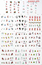newest free shipping Hot sell BJC halloween nail decals with each model only 10 pieces choice