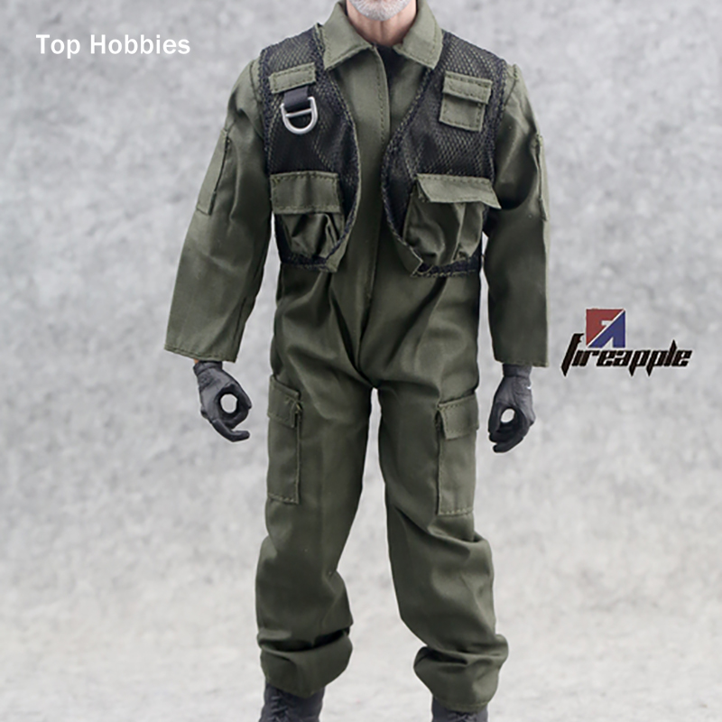 """Camicia ROSSA SCALA 1:6th modello per 12/"""" MASCHI HT Figura Bambola"""