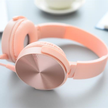 Luxury D9 Headband Stereo Headphone Microphone Portable Wired Rose Gold Headset For All Phone IPhone Samsung Earphone