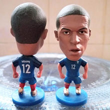 Soccerwe 2017 National Team 6.5 cm Height Resin Football Doll France 12 Mbappe Figure Blue Kit(China)