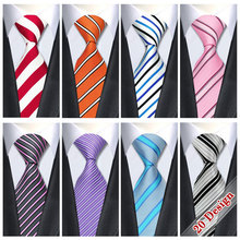 2017 New Brand Silk Mens Ties Neck Tie 20 Style Striped Ties for Men Business Wedding Suit Jacquard Woven Gravata Corbatas