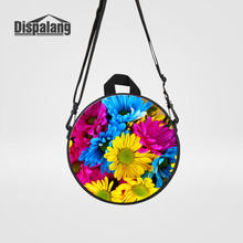 Dispalang Multifunctional Kids Messenger Bags Rugtas 3D Printing Flower Girls School Back Pack Children Toddler Mini Handbag Tas