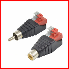 1Pair RCA Audio Plug Socket Pressed Female Male DC Power Plugs Jack Connector Adapter For Coaxial Signal Conversion Tuning Line(China)
