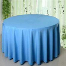 "Factory Price!!!!!   90"" Round Polyester 10pcs blue  Table Cloth For Wedding &Party &Hotel &Resturant Decoration FREE SHIPPING"