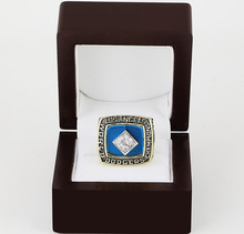 Cost Price 1981 Los Angeles Dodgers World Series Baseball Replica Copper High Championship Rings with Gorgeous Wooden Boxes(China)