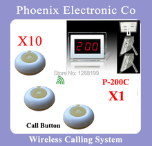 1 Set Wireless Call Calling System Waiter Server Paging Service System for Restaurant Pub Bar P-200CD-O1Y