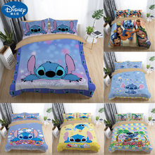 Disney Stitch Bedding Sets Twin Full Queen King Cartoon Quilt Cover Pillowcase Sheet Bed Duvet Cover Set for Children Adult(China)