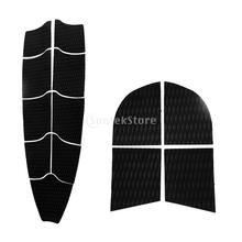 Diamond Grooved EVA 9Pcs Full Deck Grip Mat + 4pcs Dog Traction Grip Tail Pads for SUP Surfboard Stand Up Paddleboard Longboard