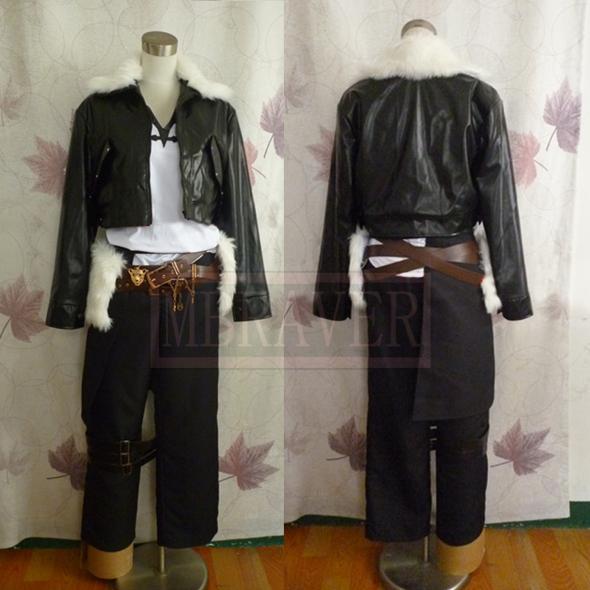 Final Fantasy VIII Squall Leonhart Cosplay Costume Custom Made Any Size